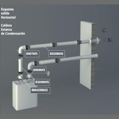 Tubo flexible uni n por manguitos condensaci n al corte for Normativa salida de humos calderas