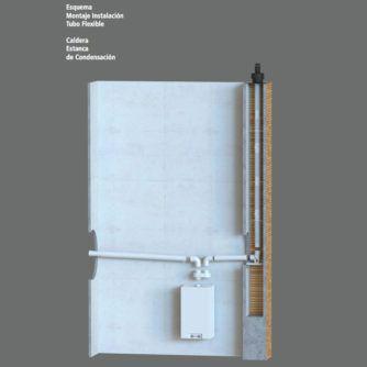 Esquema-montaje-instalacion-tubo-flexible,-caldera-estanca-de-condensacion-Ecobioebro