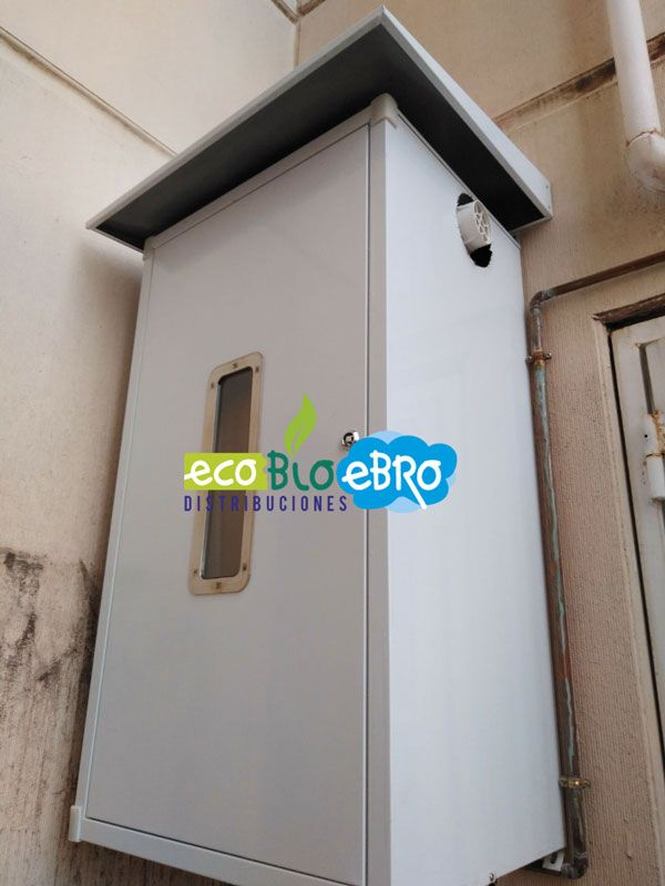 Nuestros trabajos realizados instalaciones ecobioebro - Armario exterior caldera gas ...