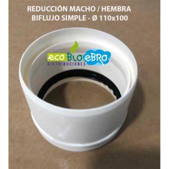 REDUCCIÓN-MACHO--HEMBRA-BIFLUJO-SIMPLE---Ø-110x100-ECOBIOEBRO