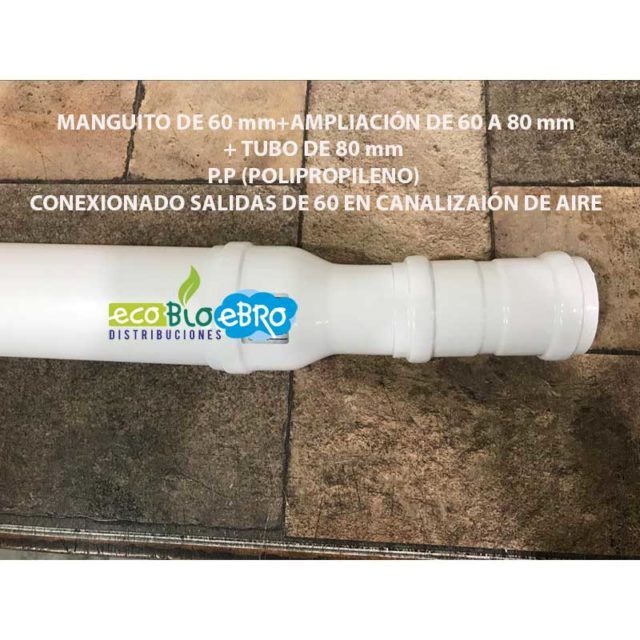 KIT-CANALIZACION-EN-ESTUFAS-CON-SALIDA-DE-60-A-TUBO-DE-80-mm-P.P-POLIPROPILENO-ECOBIOEBRO