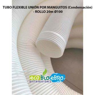 TUBO FLEXIBLE UNIÓN POR MANGUITOS (Condensación) - ROLLO 20m Ø100 ecobioebro