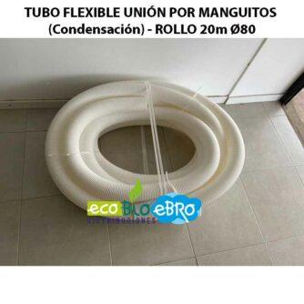 TUBO-FLEXIBLE-UNIÓN-POR-MANGUITOS-(Condensación)---ROLLO-20m-Ø80 ecobioebro