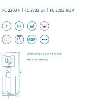 Dimensiones-fuente-de-agua-serie-fc2203-ecobioebro