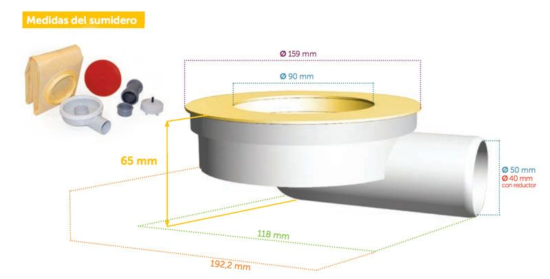 tamaño-sumidero-flat-lineal-dry-50-ecobioebro