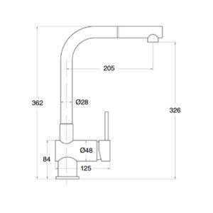 esquema-grifo-cocina-bubal-extensible-ecobioebro