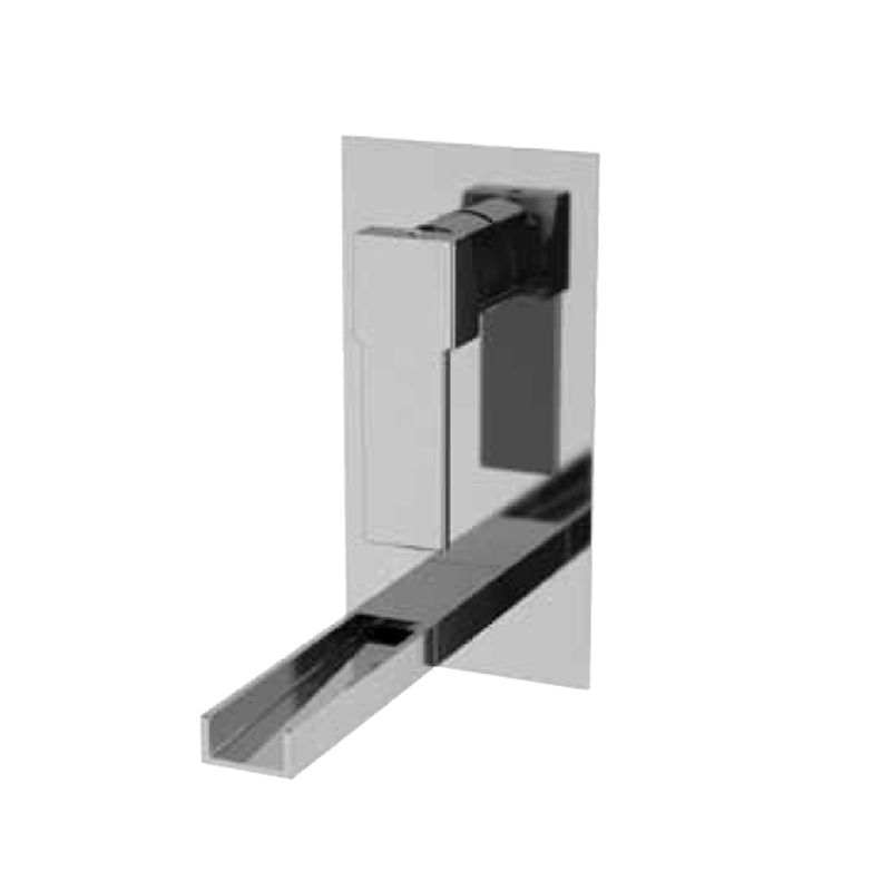 Monomando lavabo rectangular empotrar cascada cromo serie for Lavabo rectangular
