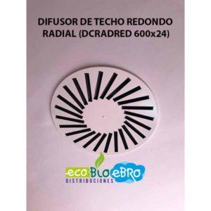 AMBIENTE DIFUSOR DE TECHO REDONDO RADIAL (DCRADRED 600x24) ecobioebro