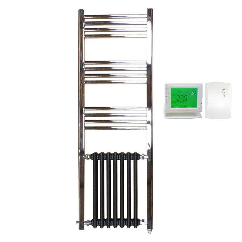 Radiador el ctrico vertical h brido duke ecobioebro - Radiadores para gas natural ...