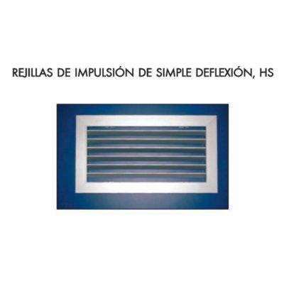 REJILLA IMPULSIÓN SIMPLE DEFLEXIÓN HS-R (aletas móviles)