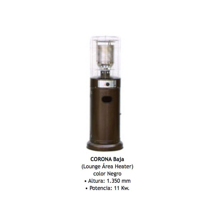Estufa Radiante A Gas Para Exterior Corona Baja 11kw