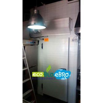 Instalacion cortina de aire de ambiente para camaras frigorificas ecobioebro