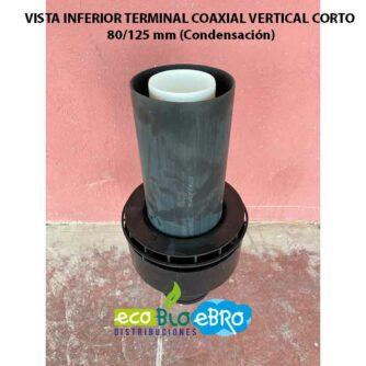 VISTA INFERIOR TERMINAL-COAXIAL-VERTICAL-CORTO-80125-mm-(Condensación) ecobioebro