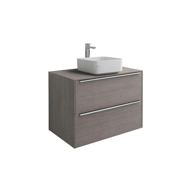 Inspira mueble base para lavabo sobre encimera 800mm roble for Oferta mueble lavabo