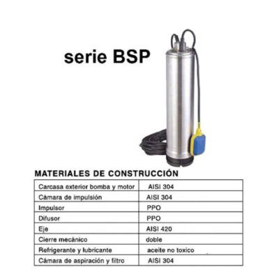 BOMBA SUMERGIBLE COMPACTA 5″ (SERIE BSP)