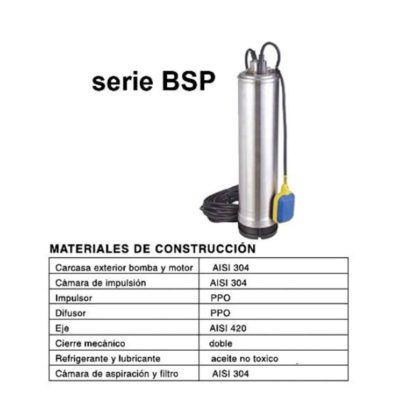 BOMBA SUMERGIBLE COMPACTA 5″ (SERIE BSP)