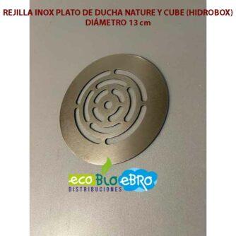 REJILLA-INOX-PLATO-DE-DUCHA-NATURE-Y-CUBE-(HIDROBOX)-13 cm ecobioebro