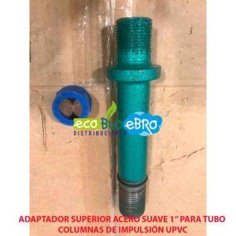 adaptador acero suave superior de 1 ecobioebro
