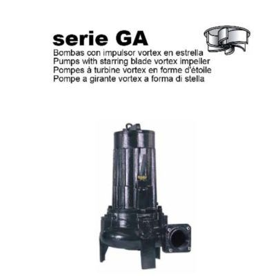 BOMBA SUMERGIBLE PARA AGUAS RESIDUALES I-TECH (SERIE GA)