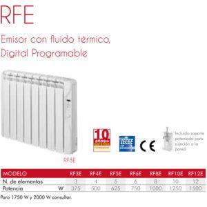 EMISOR CON FLUIDO TÉRMICO RFE (digital programable)