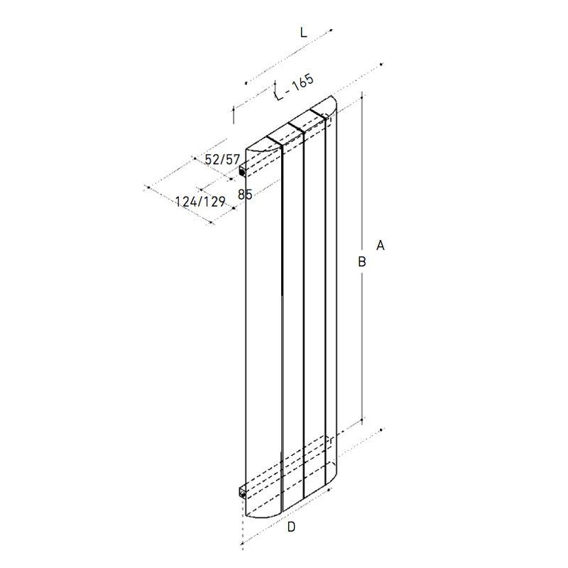 Radiador aluminio vertical tv 1800 ecobioebro for Catalogo roca calefaccion
