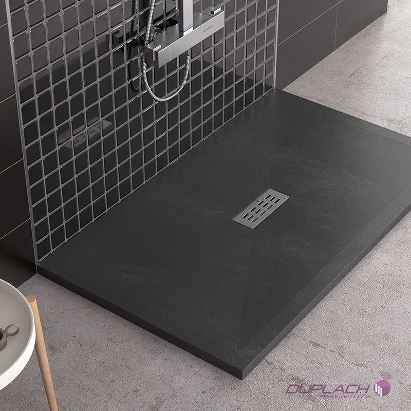 Plato de ducha sorty liso pizarra ecobioebro for Plato ducha 120x70