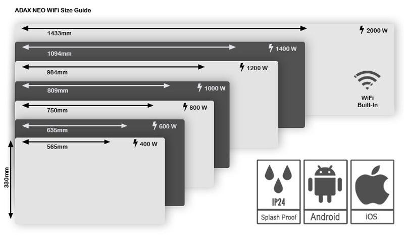 Adax-neo-wifi-modelos-potencias-y-dimensiones-ecobioebro