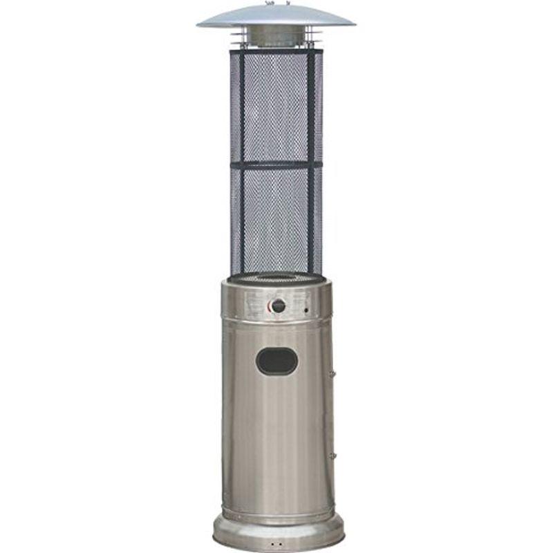 Estufa exterior gas columna inox ecobioebro for Estufas de exterior