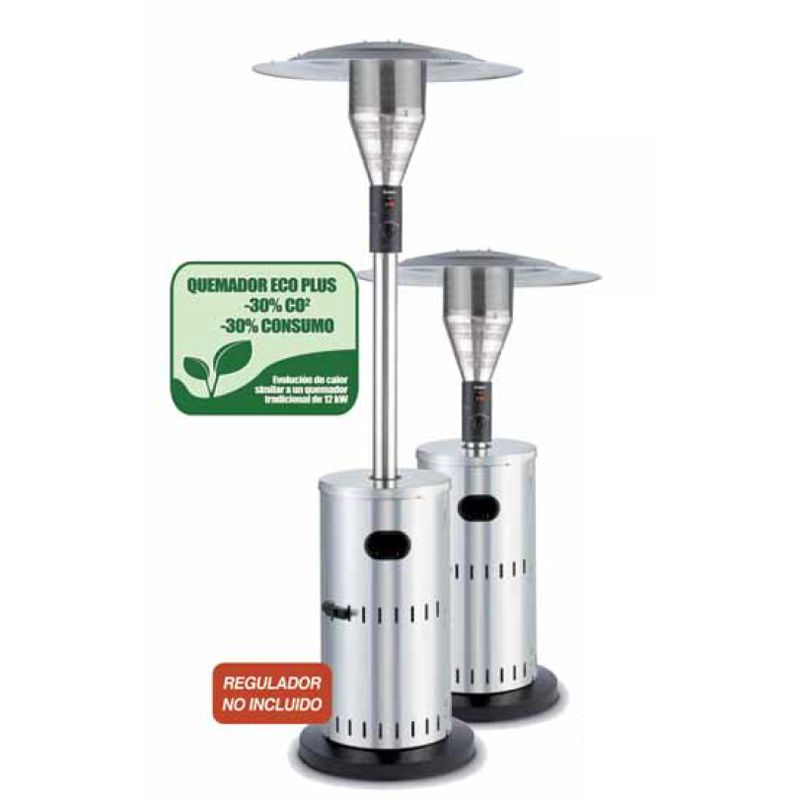 Estufa Exterior A Gas Solid Stainless