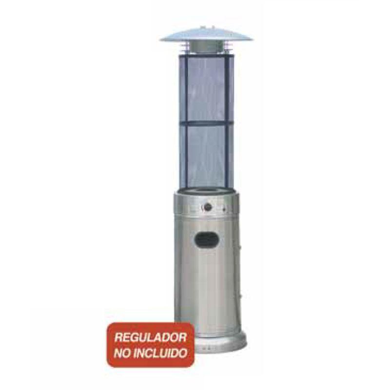 Estufa exterior gas columna inox ecobioebro - Estufas exterior gas ...