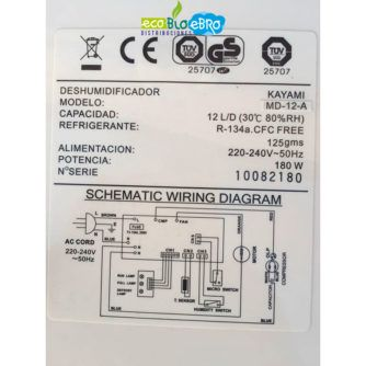 esquema-electrico-placa-electrónica-kayami-deshumidificador-MS12A-ecobioebro