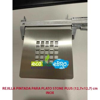 REJILLA-PINTADA-PARA-PLATO-STONE-PLUS-(12,7×12,7)-cm-INOX ecobioebro