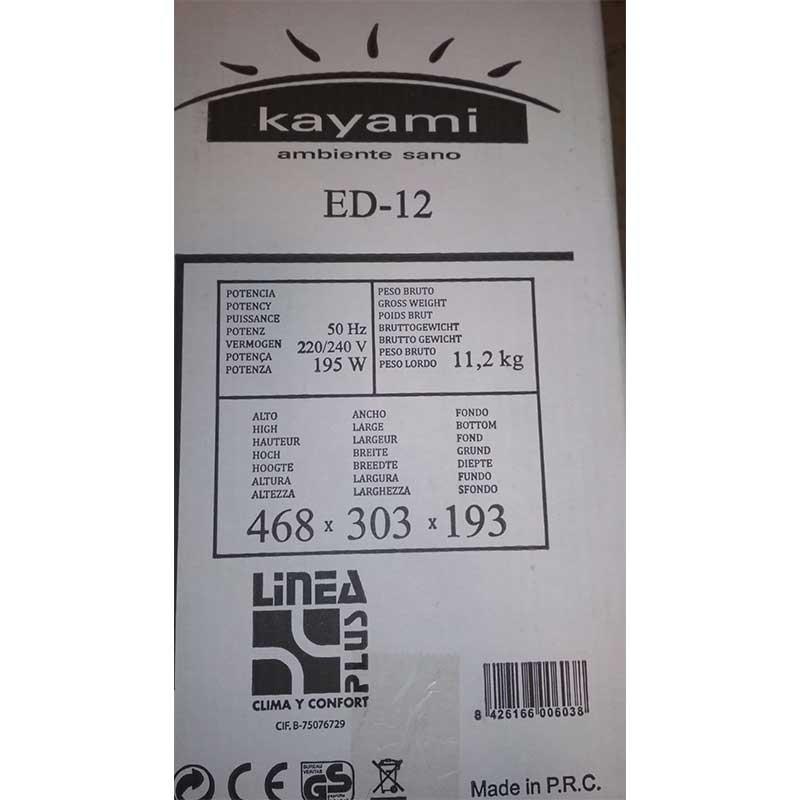etiquetado-deshumidificador-kayamI-ED12-ecobioebro-