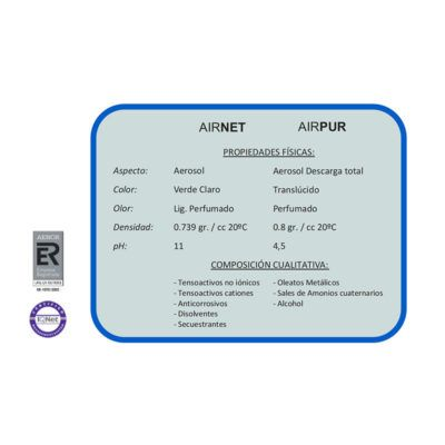 Desinfectante y Desodorizante para vehículos  2X100 ml.