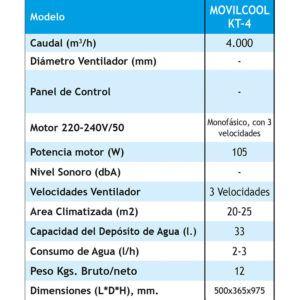 EVAPORATIVO PORTÁTIL COOLVENT SERIE MOVILCOOL KT-4