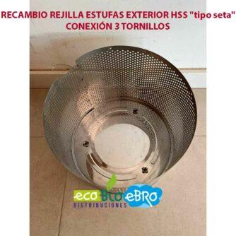 RECAMBIO-REJILLA-ESTUFAS-EXTERIOR-HSS-'tipo-seta'-conexion-3-tornillos ecobioebro