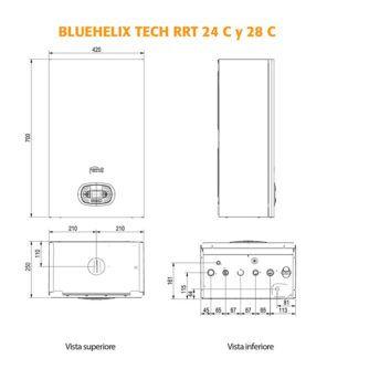 dimensiones-caldera-Ferroli-tech-rrt-ecobioebro