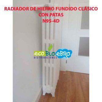 RADIADOR DE HIERRO FUNDIDO CLÁSICO N95-4D con patas ecobioebro
