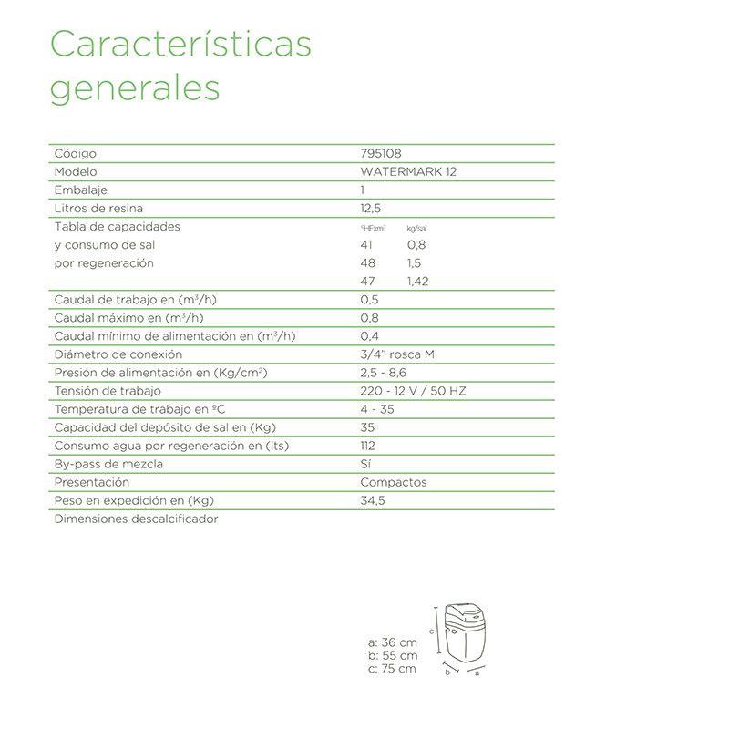 Descalcificador watermark 12 ecobioebro - Precio sal descalcificador ...