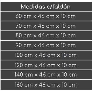 ENCIMERA DE RESINA CON FALDÓN NORBA