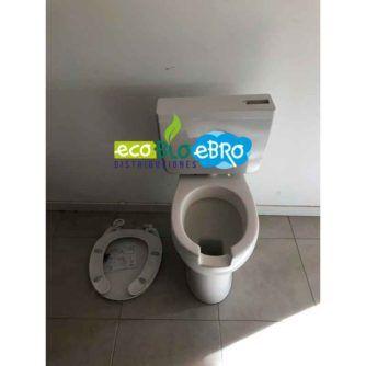 Ambiente Kit inodoro ergonómico desagüe a suelo, cisterna y tapa ecobioebro