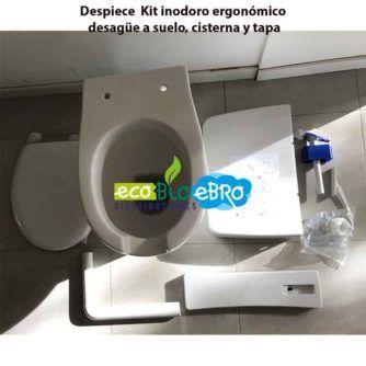 Despiece Kit inodoro ergonómico desagüe a suelo, cisterna y tapa ecobioebro