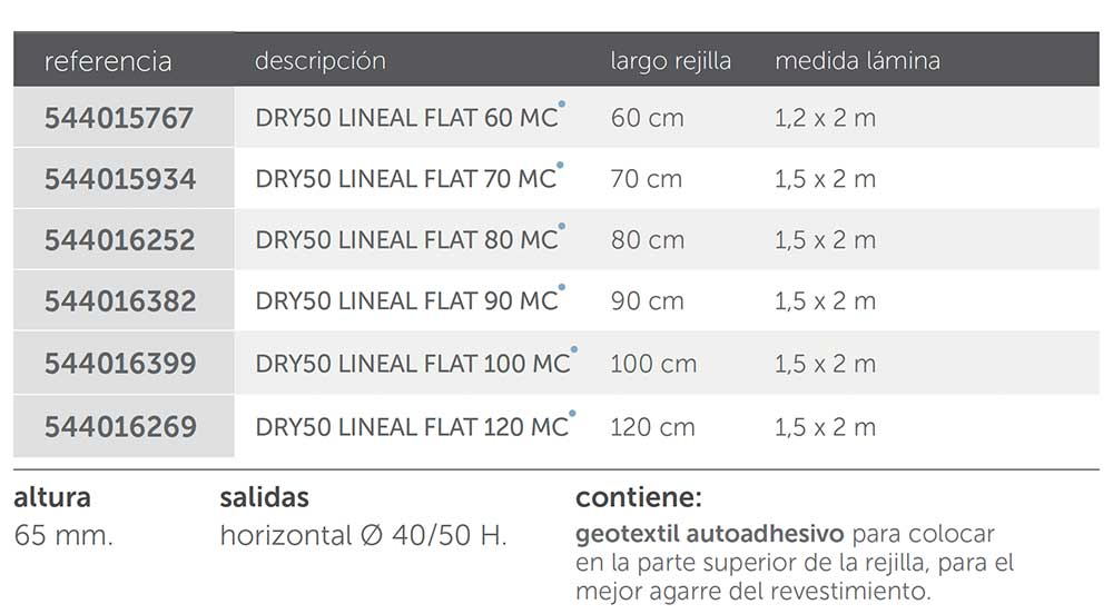 modelos-dry50-lineal-flat-mc-ecobioebro