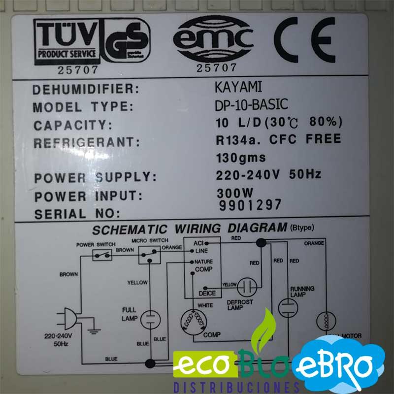 ETIQUETA-DESHUMIDIFICADOR-KAYAMI-DP10-BASIC-ECOBIOEBRO