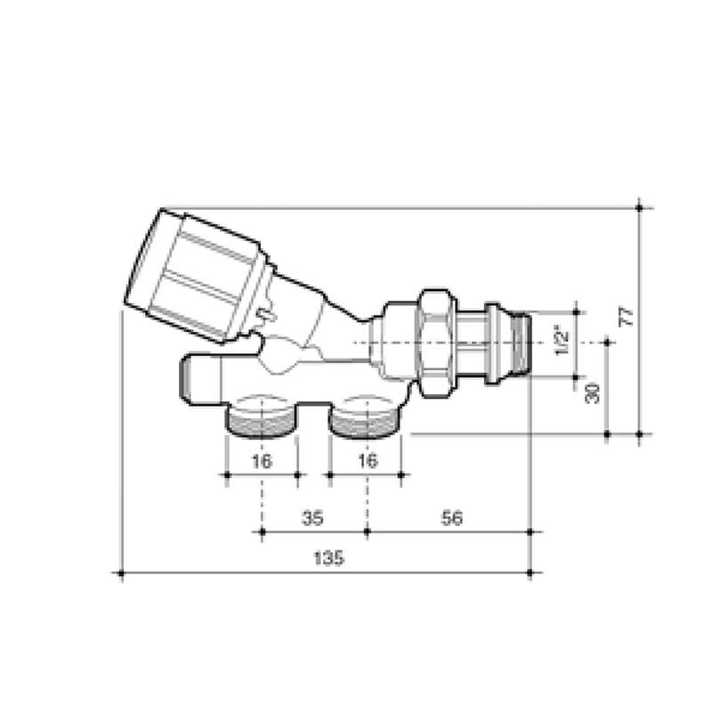 esquema-llave-monotubo-baxi-roca-16-termostatizable-ecobioebro
