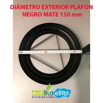 DIAMETRO-EXTERIOR-PLAFON-NEGRO-MATE-150-MM-ECOBIOEBRO