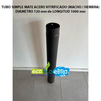 TUBO-SIMPLE-MATE-ACERO-VITRIFICADO-(MACHO---HEMBRA)-diametro-120-mm-longitud-1000-mm-ecobioebro