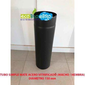 TUBO SIMPLE MATE ACERO VITRIFICADO (MACHO : HEMBRA) diametro 150 mm ecobioebro
