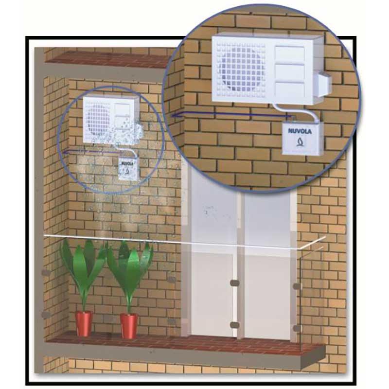 Vaporizador de agua para aire acondicionado