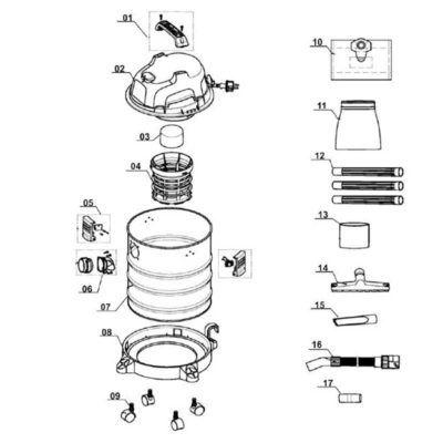 despiece-aspirador-con-motor-ecobioebro